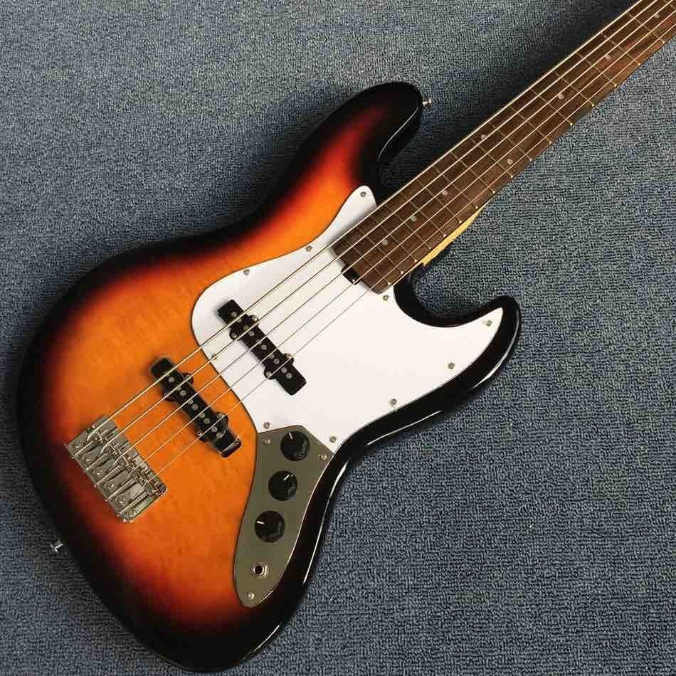 Rick 5 Strings Electric Bass Guitar