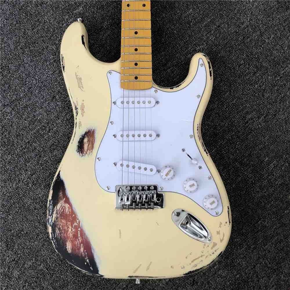 SRV ST Electric Guitar Yellow Polychromatic