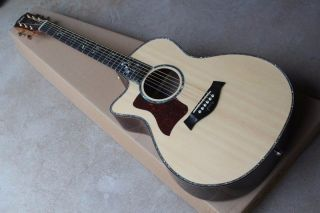 41'' Ebony Fingerboard Cutaway Body Left Handed Acoustic Guitar with Solid Top Golden Tuners