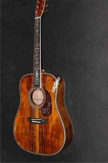 AAAA All Solid Koa Wood Dreadnought Body Martins D-45ak Acoustic Electric Guitar