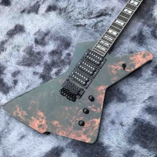 Custom Water Transfer Flamed Pattern Cover Electric Guitar for Ibanez