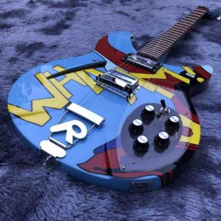 Custom WHAAM 330 Electric Guitar TPP Paul Weller Roy Lichenstein Printing Vintage Jam