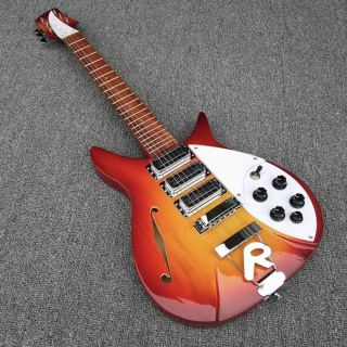 Custom F Hole Ricken 325 Electric Guitar in Cherry Red Body Kinds Color