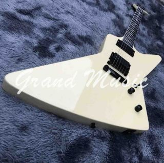 Custom 6 Strings in White Grand Irregular Electric Guitar Accept Guitar Bass Any Shape CUSTOMIZED