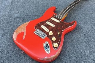 Strat Retro Wine Red